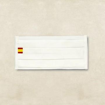 MASCARILLAS BLANCAS CON BANDERA FABRICADAS EN ESPAÑA, TANTEA