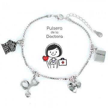 PULSERA PROFESIÓN DOCTORA EN PLATA, VENDEDOR LOCAL REGIÓN DE MURCIA, TANTEA