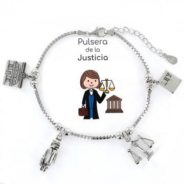 PULSERA PROFESIÓN PELUQUERA EN PLATA, VENDEDOR LOCAL REGIÓN DE MURCIA, TANTEA