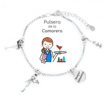 PULSERA PROFESIÓN CAMARERA EN PLATA, VENDEDOR LOCAL REGIÓN DE MURCIA, TANTEA